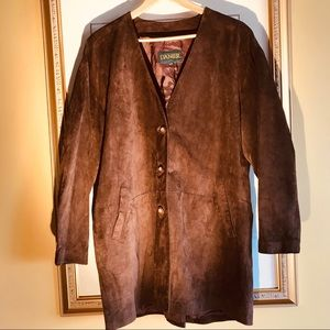 Danier brown suede coat